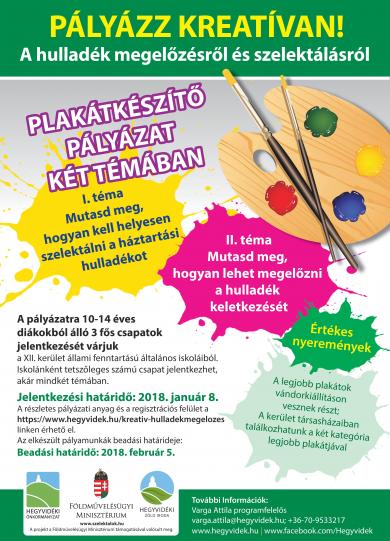 Az Önkormányzat Zöld Irodája plakátkészítő pályázatot hirdet